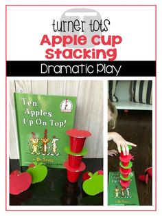 Does your little tot love apples? Bite into learning with this unit and take a deeper look at apples through the exploration of books, dramatic play, and games. Preschool Apple Activities, Preschool Apple Theme, Preschool Apples, Sequencing Activities, Preschool Ideas, Steam Activities, Preschool Printables, Preschool Classroom, Toddler Activities