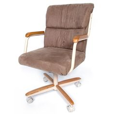 Casual Dining Brown Cushion Wood  Metal Rolling Caster ChairPowell Hamilton Swivel Tilt Dining Chair on Casters  2 Piece in 1  . Powell Hamilton Swivel Tilt Dining Chair On Casters. Home Design Ideas