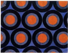 Textile Design, 1923-24, Gouache on paper, Museum of Decorative and Applied Art, Moscow