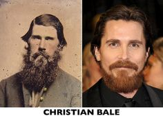 Christian Bale / ?  celebrities with their medieval doubles-5