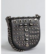 Black leather disc detail crossbody bag by Rebecca Minkoff