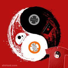 Droid Balance | Shirtoid #bb8 #bb9e #droid #droids #film #movies #scifi #skylarhogan #starwars #yinyang