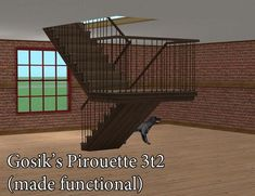 Gosik's Pirouette 3t2 (made functional) - GRANTED Can someone turn this into a working staircase please? | chiaroscuro