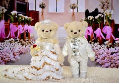 Wedding Teddy Bears | ... Wedding Bears counter genuine couple married Teddy Bear Wedding Bear