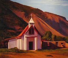 SOLD I Pilar I Dix Baines I Fine Artist Original Oil Paintings I Southwest Churches I Southwest Paintings I www.dixbaines.com