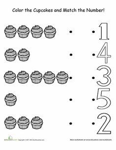 Preschool Counting & Numbers Worksheets & Free Printables   Education.com