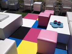 Mixed painted floors at Oriflame 2014