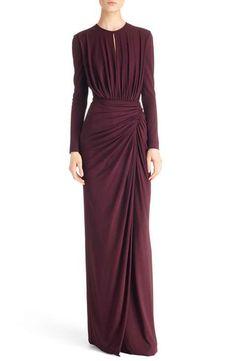 Givenchy Рюши Джерси платье Stretch
