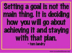 Setting Goals Quote - Tom Landry