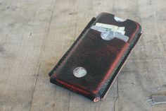 iPhone 5 Case / Sleeve / Wallet - Distressed Leather - Hand made.