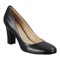 """Round toe pump with all leather upper on a 3"""" heel. This style is available exclusively @ Nine West stores & ninewest.com."""