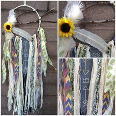 """Upcycled dreamcatcher $45  Available on our Instagram """"bohobabyboutique"""""""