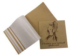 Альбом для эскизов «Мода», 210*210 мм, 40 листов (20 листов крафт-бумага 70 гм2., 20 листов калька) , купить в интернет-магазине Арт Квартал