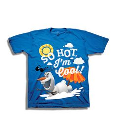Another great find on #zulily! Royal Blue 'So Hot I'm Cool' Olaf Tee - Toddler & Boys #zulilyfinds