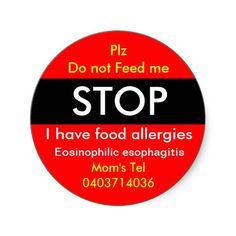 Allergy Sticker for Eosinophilic esophagitis