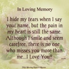 In Loving Memory Pictures, Photos, and Images for Facebook, Tumblr, Pinterest, and Twitter