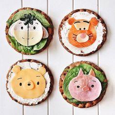 Fun, fun, fun, fun, fun food art! (: @taramilktea) Bento Recipes, Baby Food Recipes, Tara Milk Tea, Cute Winnie The Pooh, Colorful Desserts, Kawaii Dessert, Recipes From Heaven, Cute Food, Funny Food