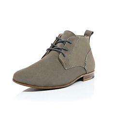 Beige nubuck chukka boots - boots - shoes / boots - men