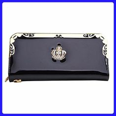 Usstore Lady Women Clutch Long Purse Leather Wallet (Black) - Wallets (*Amazon Partner-Link)