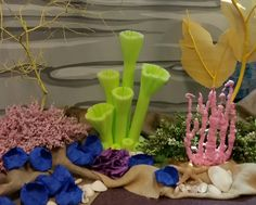 Coral reef: Variety of coral at submerged VBS Coffee Filter Coral, Submerged Vbs, Vbs 2016, Churches Of Christ, Finding Dory, Under The Sea, The Little Mermaid, Happy Holidays, Kids Room