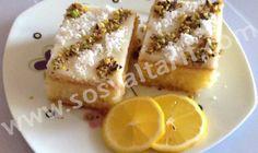 Muhallebili Limonlu Revani için Gerekli Malzemeler: Keki için; 3 adet yumurta 4 yemek kaşığı toz şeker 1 çay bardağı sıvı yağı 1 su bardağı irmik 1 su bardağı un 1 a