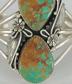 Authentic Native American Navajo Sterling Silver turquoise bracelet Silver Jewelry Box, Black Gold Jewelry, Heart Jewelry, Turquoise Jewelry, Turquoise Bracelet, Silver Ring, Navajo Jewelry, Southwest Jewelry, Boho Jewelry