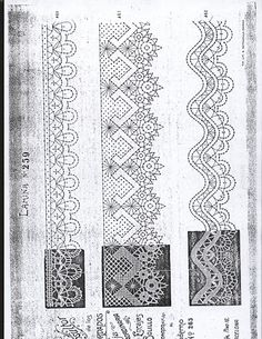 Lace prickings Thread Crochet, Knit Or Crochet, Crochet Stitches, Bobbin Lace Patterns, Embroidery Patterns, Bobbin Lacemaking, Types Of Lace, Lace Painting, Crochet Dollies