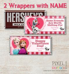 PERSONALIZED VALENTINE Frozen Candy Bar by PixelPerfectShoppe, $5.00