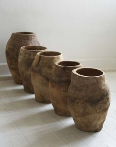 Sisal Wood Vessels. http://www.aftershocksinteriordecorating.com