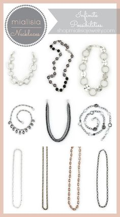 Mialisia Simple Necklaces for Layering. Awesome jewelry. My sister Kim Fullerton sells it!