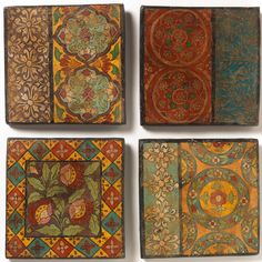 Hand Painted Terracotta Tile - Natural Collection Select