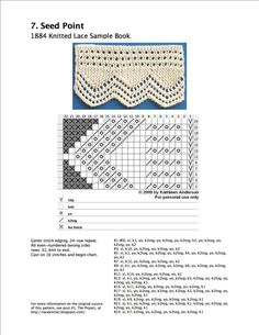 Edging for blanket Lace Knitting Stitches, Crochet Stitches Patterns, Knitting Charts, Lace Patterns, Free Knitting, Stitch Patterns, Embroidery Patterns, Knit Edge, Knitting Projects