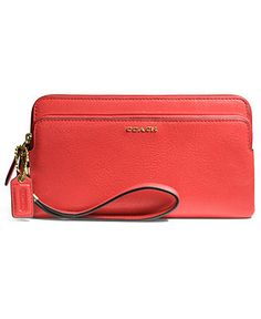 COACH MADISON DOUBLE ZIP WALLET IN LEATHER - Madison Collection - Handbags & Accessories - Macy's