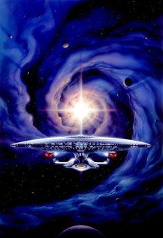 Sci-fi Spaceships — Star Trek by Tsuneo Sanda Nave Enterprise, Star Trek Enterprise, Star Trek Voyager, Star Trek 1, Star Trek Series, Vaisseau Star Trek, Star Trek Wallpaper, Starfleet Ships, Sci Fi Spaceships