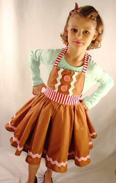 Gingerbread Apron Dress by DarlingInDisguise on Etsy