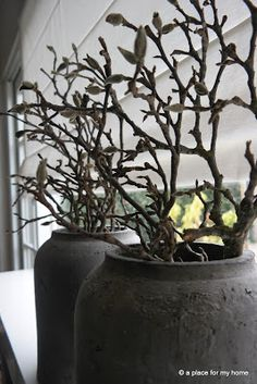 A place for my home Pottery Pots, Belgian Style, Window Sill, Christmas Deco, Container Plants, Rustic Charm, Wabi Sabi, Flower Decorations, Interior Styling