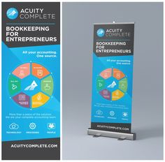 Hip Design Retractable Banner on Fast Deadline for Accounting Tech Company by iva_