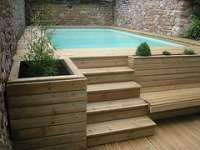 37 Swimming Pool Ideas Revive Your Spirit after Working All Day Intex Above Ground Pools, Above Ground Swimming Pools, In Ground Pools, Swimming Pool Ladders, Outdoor Swimming Pool, Small Backyard Pools, Small Pools, Casa Patio, Backyard Patio