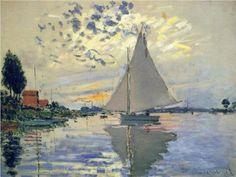 Sailboat at Le Petit-Gennevilliers  Claude Monet  1874