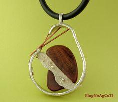 Pingente de prata 950, cobre,nó de pinho
