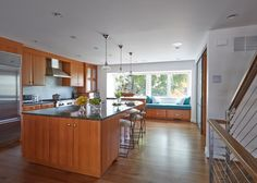 Durable and long-lasting, wood floors lend classic beauty to the kitchen.