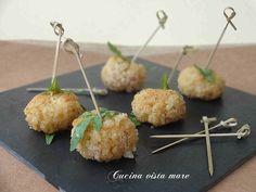 Polpette di riso finger food Cucina vista mare
