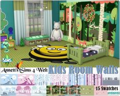 Annett's Sims 4 Welt: Kids Room Walls