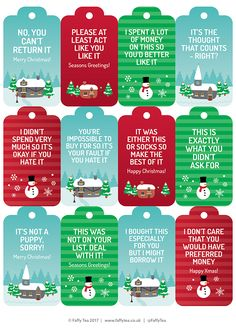 Honest Christmas Gift Tags