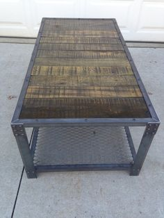 Industrial Coffe Table Reclaimed Wood by TayloredIronWorks on Etsy