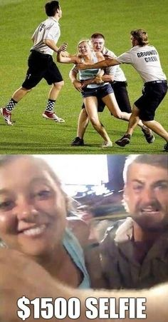Was it Worth It? (Story here: http://fstoplounge.com/2013/07/girl-takes-selfie-at-a-baseball-game-and-gets-arrested/