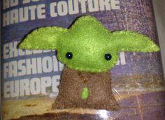 Star Wars Yoda felt brooch accessory. $21.00, via Etsy.