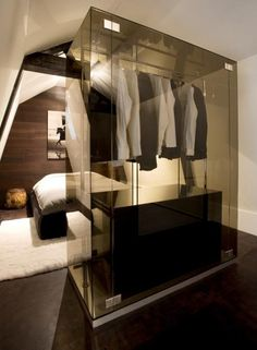 Modern closet transparent wardrobe freestanding