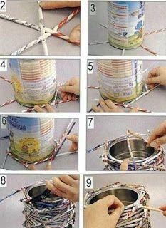 Αντικείμενα από ΧΑΡΤΙ ΕΦΗΜΕΡΙΔΑΣ με ΟΨΗ ΚΑΛΑΜΙΟΥ (Paper Wicker) | ΣΟΥΛΟΥΠΩΣΕ ΤΟ
