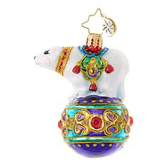 Christopher Radko Bejeweled Balancer Little Gem Christmas Ornament *** Check out this excellent product. (This is an affiliate link). Modern Christmas Ornaments, Classic Christmas Decorations, Christmas Themes, Polar Bear Christmas, Christopher Radko Ornaments, Personalized Christmas Ornaments, Ball Ornaments, Merry And Bright, Collection